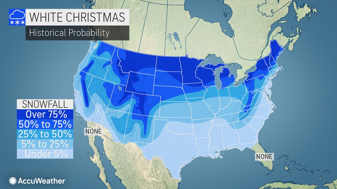 White Christmas forecast: the holiday is six weeks away, will