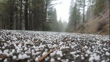 Graupel makes popcornlike noises as it pelts the ground
