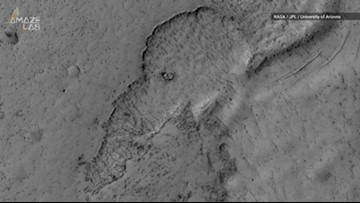 Check Out This Elephant-Shaped Lava Flow on Mars
