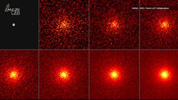 Moon's Gamma-Ray Glow Outshines the Sun in NASA Fermi Images