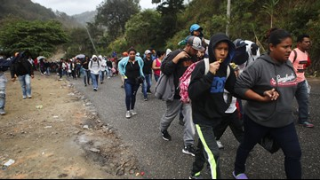 After crossing into Guatemala, migrants set sights on Mexico