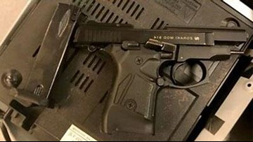 Someone tried to sneak a gun on a plane in a DVD player