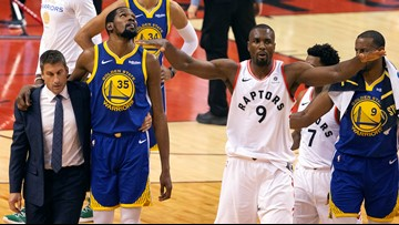 Toronto Raptors fans blasted for cheering Kevin Durant injury