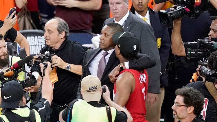 Raptors President Deputy Hit Basketball