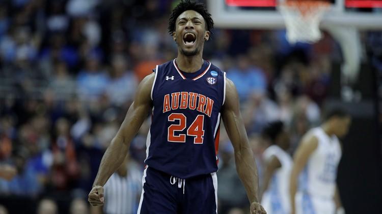 Auburn upsets No. 1 North Carolina in Sweet 16