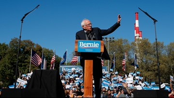 'I am back,' Bernie Sanders tells supporters at NYC rally