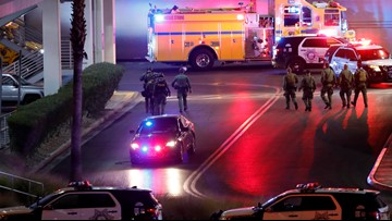 Police respond to reports of a shooting at Las Vegas mall