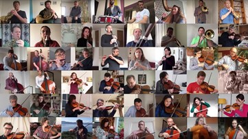 Watch an orchestra seamlessly perform 'Bolero' from quarantine