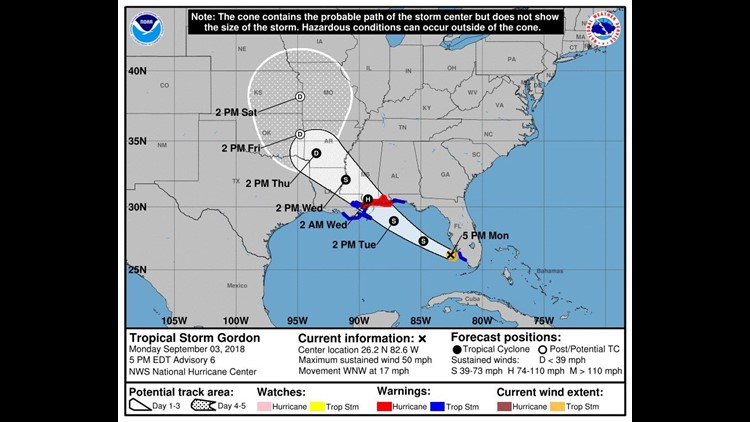 The National Hurricane Centeralso issued a storm surge warningmeaning possible