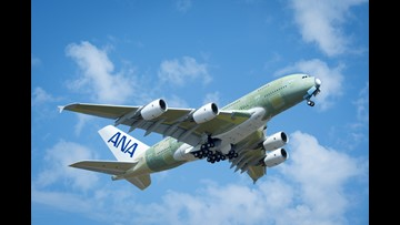 First All Nippon Airways Airbus A380 takes to the skies