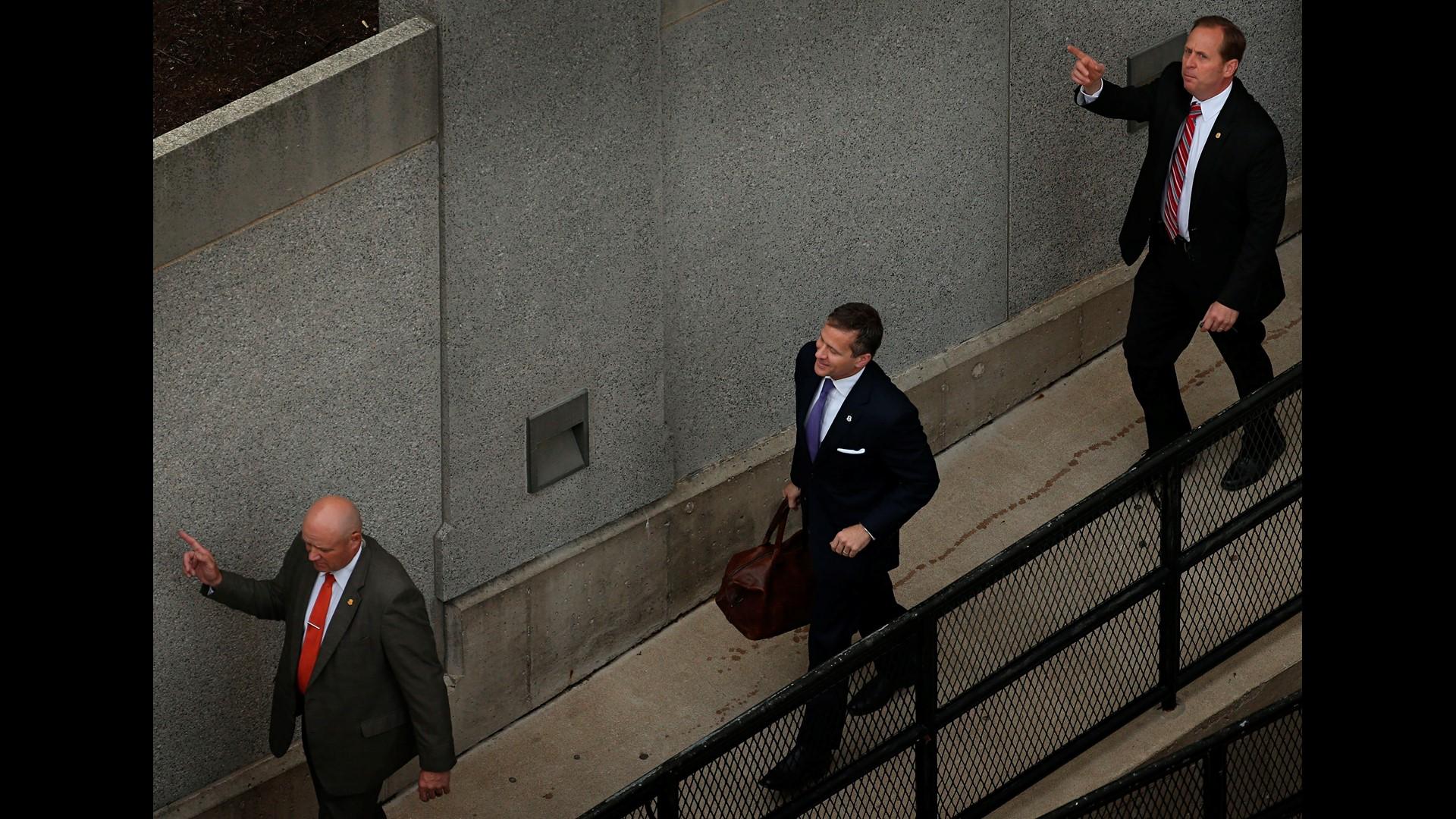The Latest: Missouri Gov. Eric Greitens to talk to media