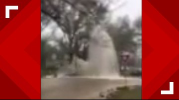 Water main break floods several Waco streets
