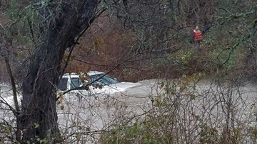 Rescuers save man trapped in flooded vehicle in Troy