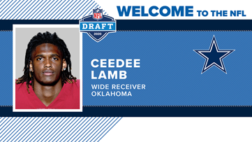 Cowboys select CeeDee Lamb with 17th overall selection