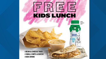 Taco Cabana giving free lunches to kids all summer