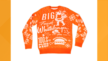 Whataburger unveils 2019 Christmas sweater