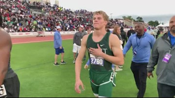 Texas high school senior sets new national record in 100M dash
