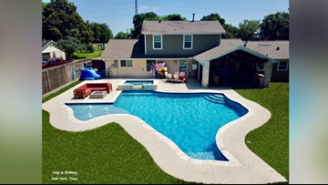 Pasadena family installs Texas pool behind their house just in time for summer