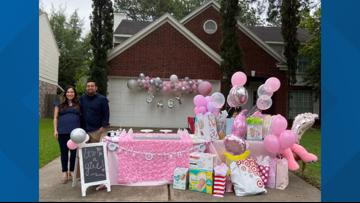 It's a girl! Houston couple celebrates first child with drive-thru baby shower