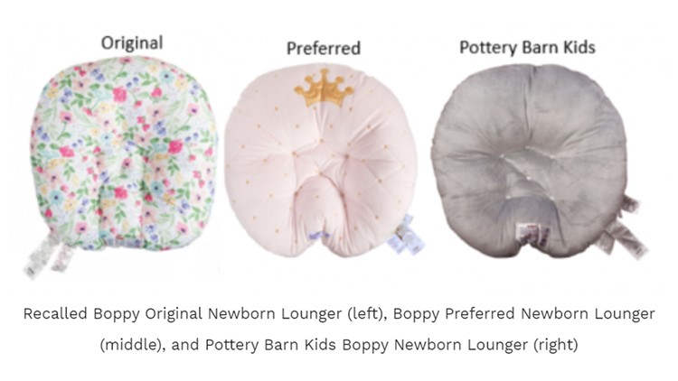 3 million Boppy loungers recalled after 8 infant deaths are reported