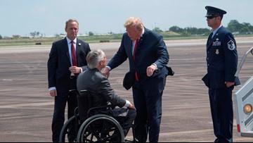 Trump gives hugs, condolences in meeting with Santa Fe families