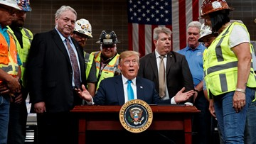 President Trump signs executive orders on energy projects in Crosby