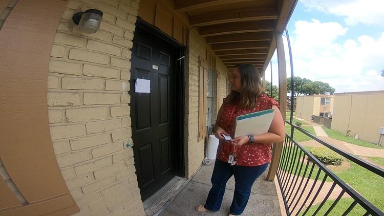 Stephanie Shrimplin outside apartment