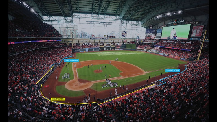 Houston Astros extended netting