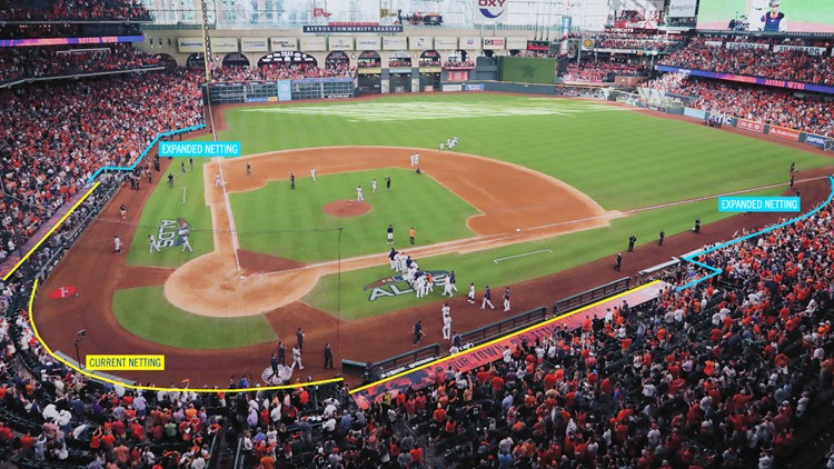 Astros to extend protective netting at Minute Maid Park