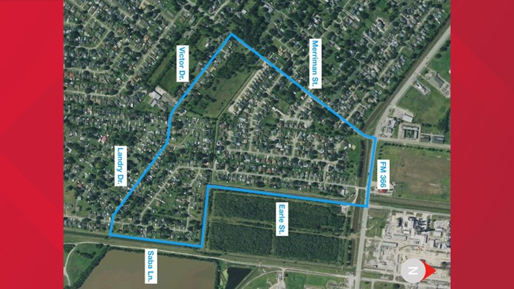 Map of where adjusters will begin, TCP plant