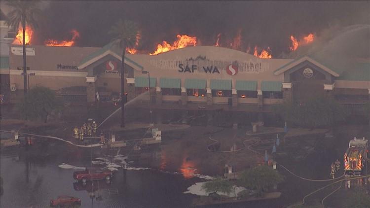 Fire officials confirm storm played part in Phoenix Safeway fire