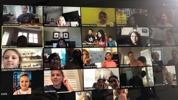 Texas students throw classmate surprise birthday party via Zoom, as they practice social distancing