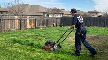 'Nicest thing I've ever seen'   Texas firefighters finish mowing man's lawn after he was sent to the hospital