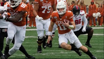It's official: The Texas Longhorns are playing in the Valero Alamo Bowl