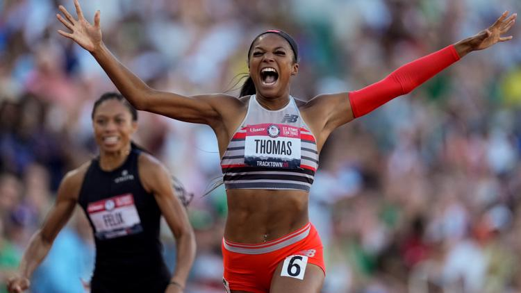 UT epidemiology student Gabby Thomas earns bronze medal in 200m