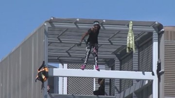 'Statue of Liberty climber' detained after eight-hour protest atop Southwest Key