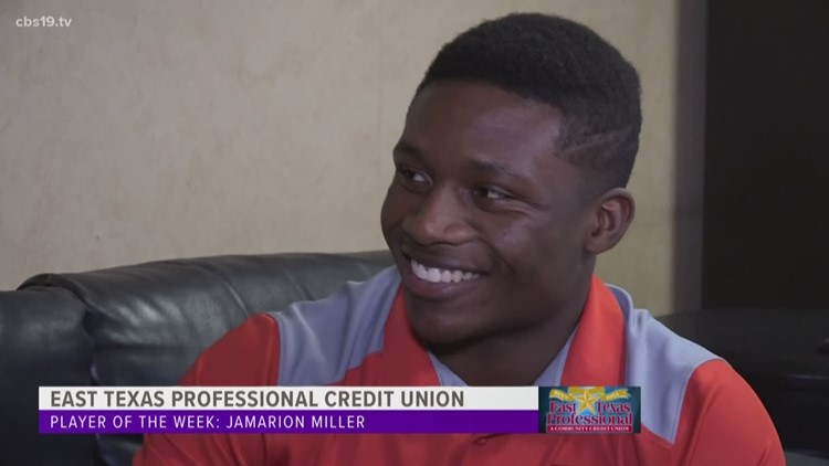 WATCH: East Texas Professional Credit Union Player of The Week. Tyler Lee Running Back Jamarion Miller