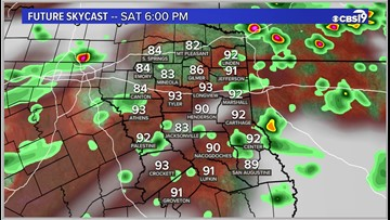 Some chances for rain heading into the weekend for East Texas!