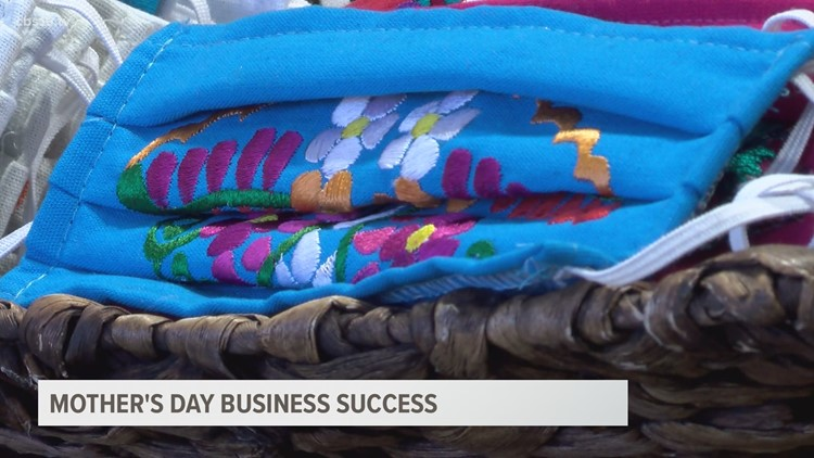 Mother's Day business success, mother and daughter working together