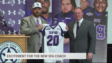 SFA introduces its new football head coach