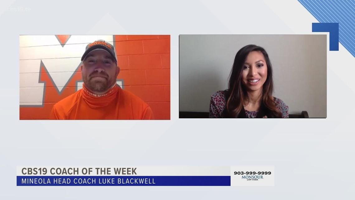 CBS19 COACH OF THE WEEK: Mineola's Luke Blackwell