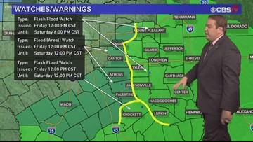 Flooding rains are in the forecast Friday/Saturday