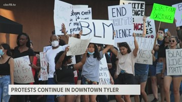 Protests continue in Tyler for 4th straight day