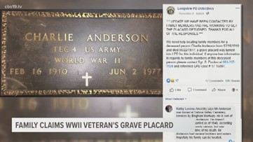 Soldier's grave placard returned to family