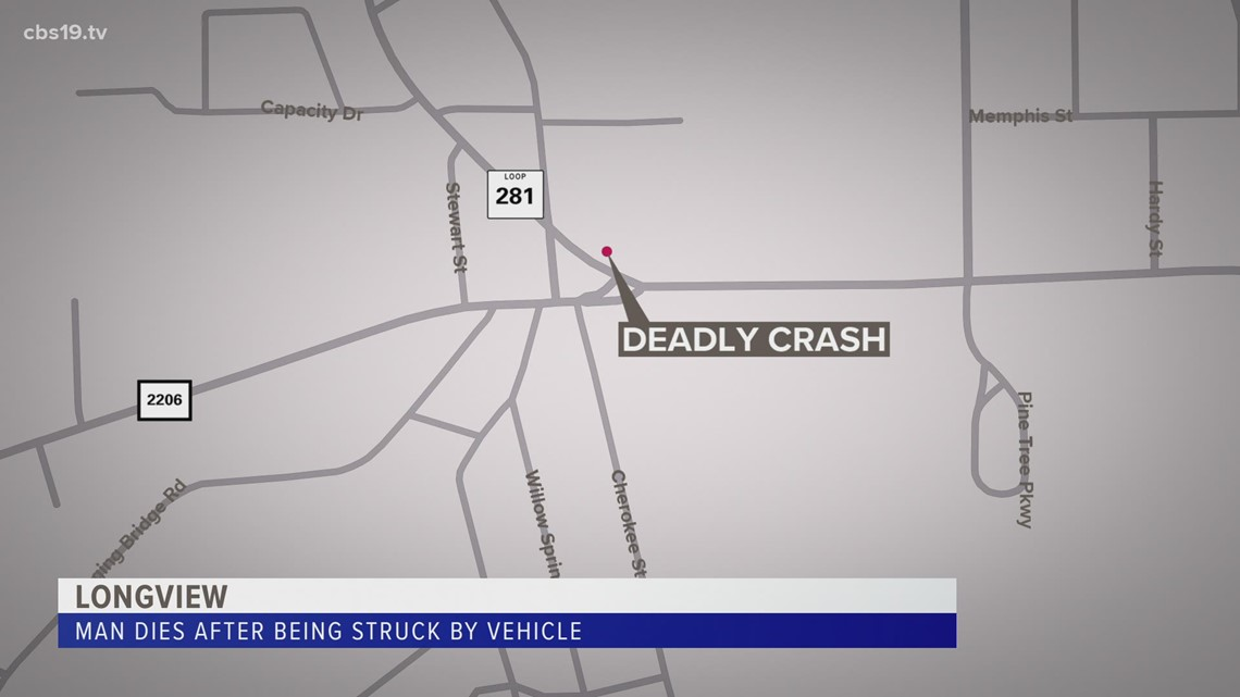 Man dies after being struck by vehicle in Longview