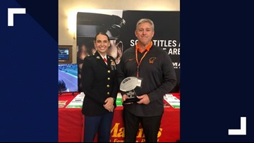 Gladewater coach receives Semper Fi Coaching Award