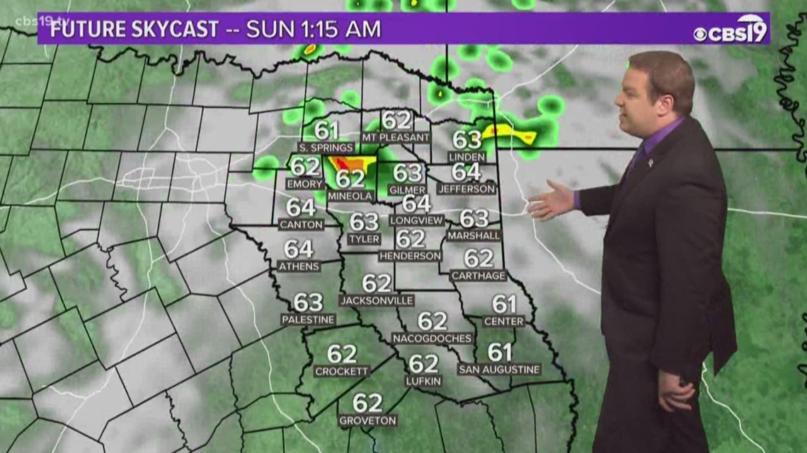 Rain is looking possible this weekend in East Texas.