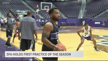 SFA holds first basketball practice of the year