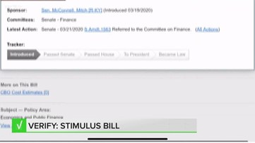 VERIFY: Answering your questions on the stimulus bill