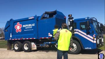 VIDEO: Bullard boy gets special visit from a big truck